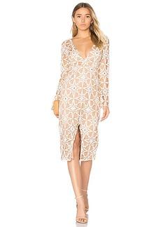 For Love & Lemons Metz Midi Dress in Tan. - size S (also in XS)