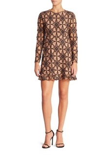 For Love & Lemons Metz Star Lace Party Dress