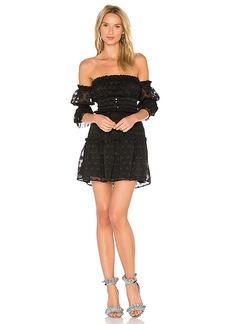 For Love & Lemons Modern Love Off Shoulder Dress in Black. - size M (also in S,XS)