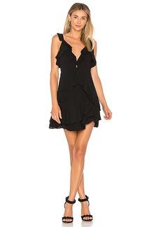 For Love & Lemons Poppy Mini Dress in Black. - size S (also in XS,M,L)