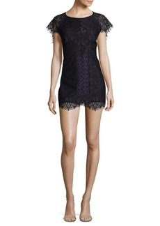 For Love & Lemons Pull-On Lace Mini Dress