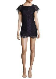 For Love & Lemons Pull-On Lace Mini Dress
