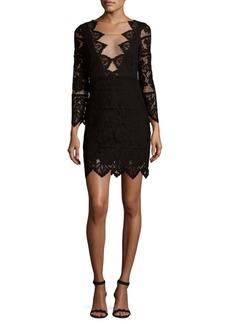 For Love & Lemons Pull-On Noir Mini Dress