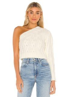 For Love & Lemons Quinn One Shoulder Sweater
