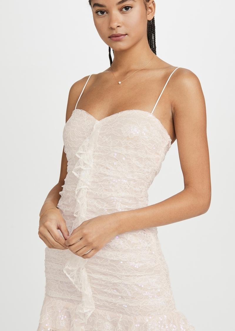 For Love & Lemons Robin Iridescent Mini Dress