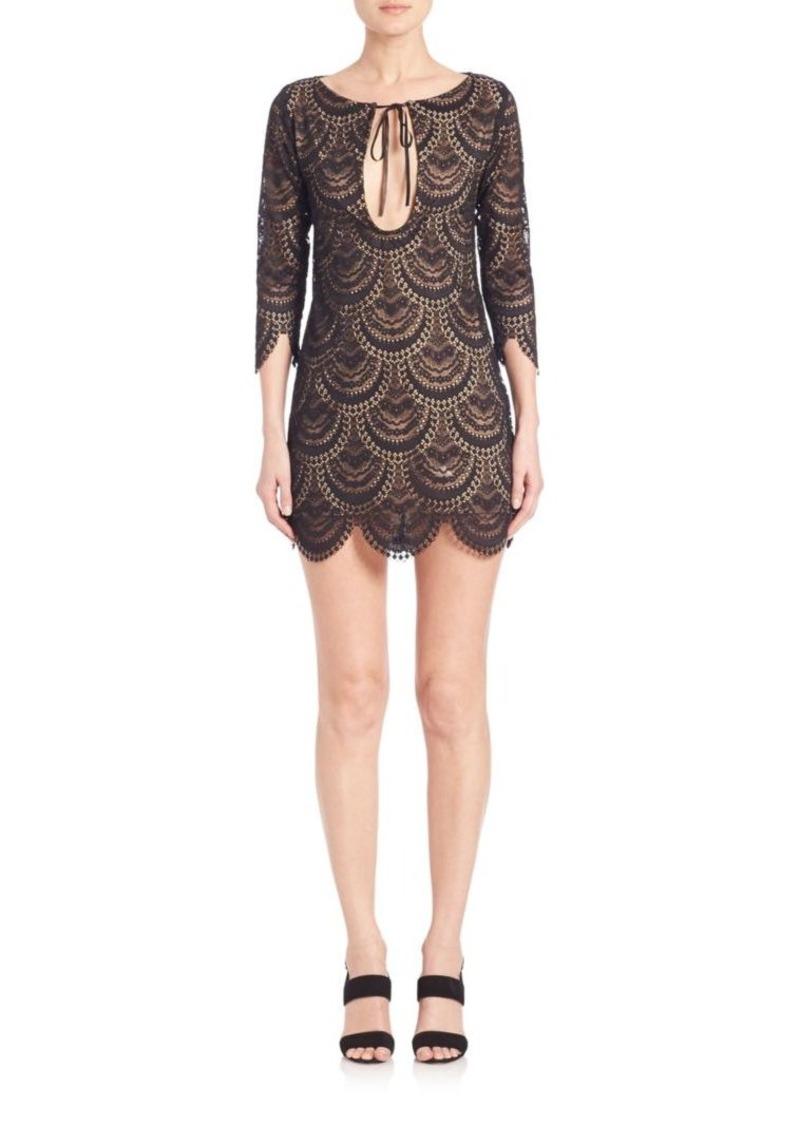 For Love & Lemons Rosalita Cutout Lace Dress