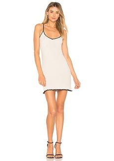 For Love & Lemons Ruffle Edge Tank Dress in Metallic Silver. - size L (also in M,S,XS)