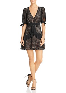 For Love & Lemons Ruffled Lace Mini Dress - 100% Exclusive