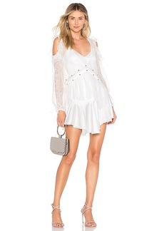 For Love & Lemons Sabina Layered Mini Dress