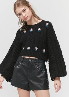 For Love & Lemons Savanna Cropped Sweater