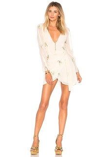For Love & Lemons Scorpion Wrap Dress in Cream. - size L (also in M,XS)