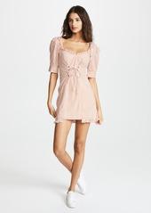 For Love & Lemons Selma Lace Up Mini Dress