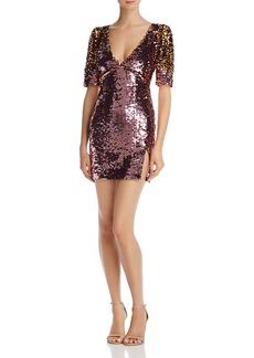 For Love & Lemons Sequin Mini Dress