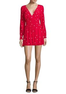 For Love & Lemons Shirred Mini Dress