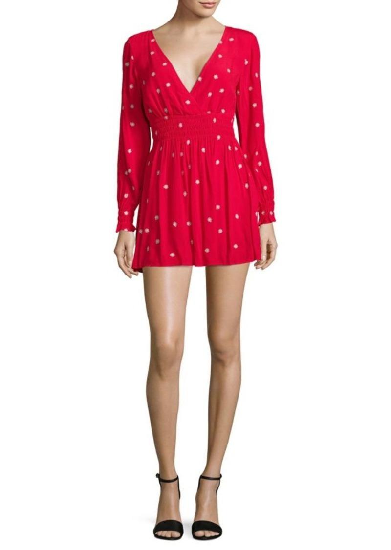 4dfb3860e80 For Love   Lemons Shirred Mini Dress