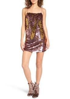 For Love & Lemons Sparklers Sequin Minidress