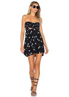 For Love & Lemons Strapless Shirt Dress