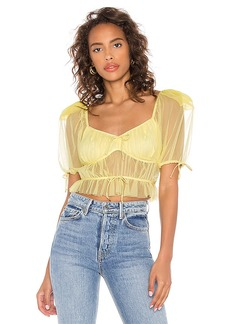 For Love & Lemons Sunshine Crop Top