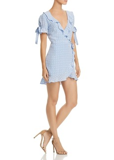 For Love & Lemons Sweetheart Mini Wrap Dress