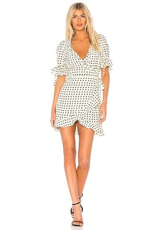 For Love & Lemons Sweetheart Wrap Mini Dress