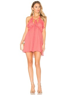 For Love & Lemons Tarta Tank Dress in Coral. - size L (also in M,S,XS)