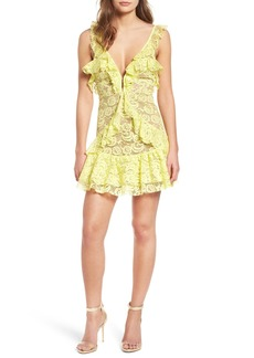 For Love & Lemons Tati Lace Minidress