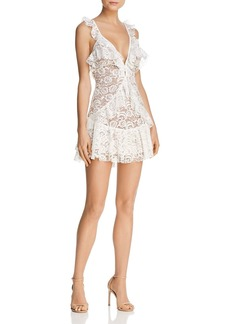 For Love & Lemons Tati Ruffled Lace Dress - 100% Exclusive