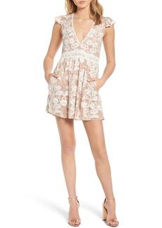 For Love & Lemons Temecula Illusion Lace Minidress