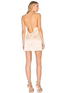 For Love & Lemons Twinkle Slip Dress in Blush. - size L (also in M,S,XS)
