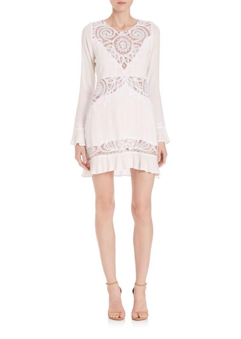 For Love & Lemons Valentina Lace-Detail Mini Dress
