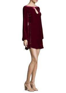 For Love & Lemons Velvet Mini Dress