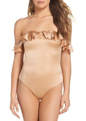 For Love & Lemons Virgo Ruffle Off the Shoulder Bodysuit