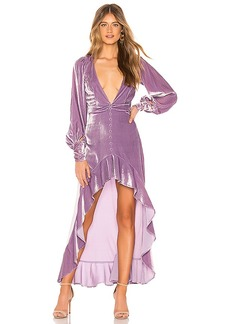 For Love & Lemons Viva Velvet Maxi Dress