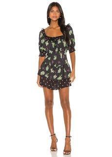 For Love & Lemons Wilson Print Mix Mini Dress