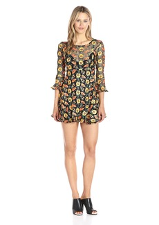 For Love & Lemons Women's Amelia Swing Dress Sunflower S