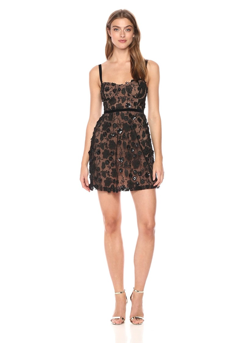 For Love & Lemons Women's Beatrice Strappy Mini Dress  L