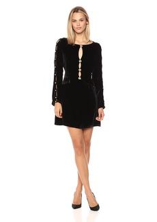 For Love & Lemons Women's Beatrix Velvet Dress  M
