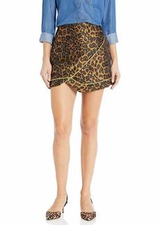 For Love & Lemons Women's Benny Asymmtrical Mini Skirt