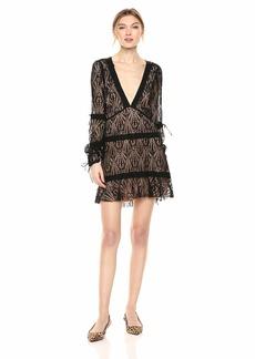 For Love & Lemons Women's Bright Lights Long Sleeve Mini Dress