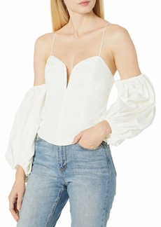 For Love & Lemons Women's Celeste Moire Top