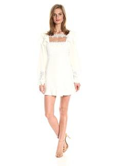 For Love & Lemons Women's Crema Silk Linen Dress  M