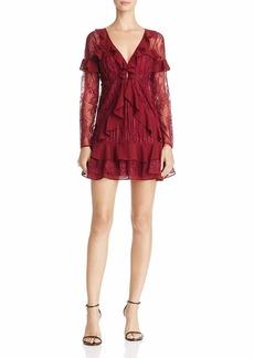 For Love & Lemons Women's Daphne Lace Mini Dress  XS