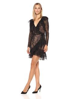 For Love & Lemons Women's Daphne Lace Wrap Dress  XS