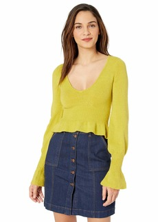 For Love & Lemons Women's Davis Peplum Sweater