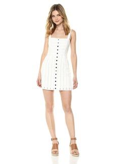 For Love & Lemons Women's Hermosa Eyelet Snap Dress  S