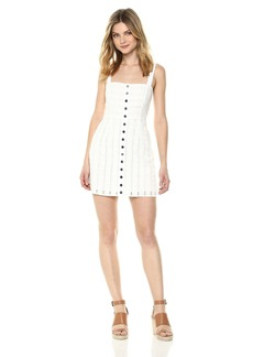 For Love & Lemons Women's Hermosa Eyelet Snap Dress  XS