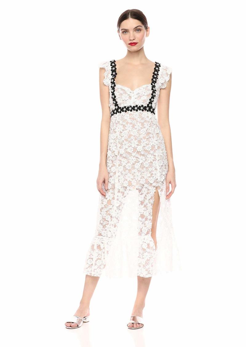 For Love & Lemons Women's Isabel Embroidered Midi Dress