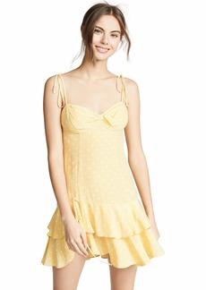 For Love & Lemons Women's Limoncello Tiered Ruffle Dress