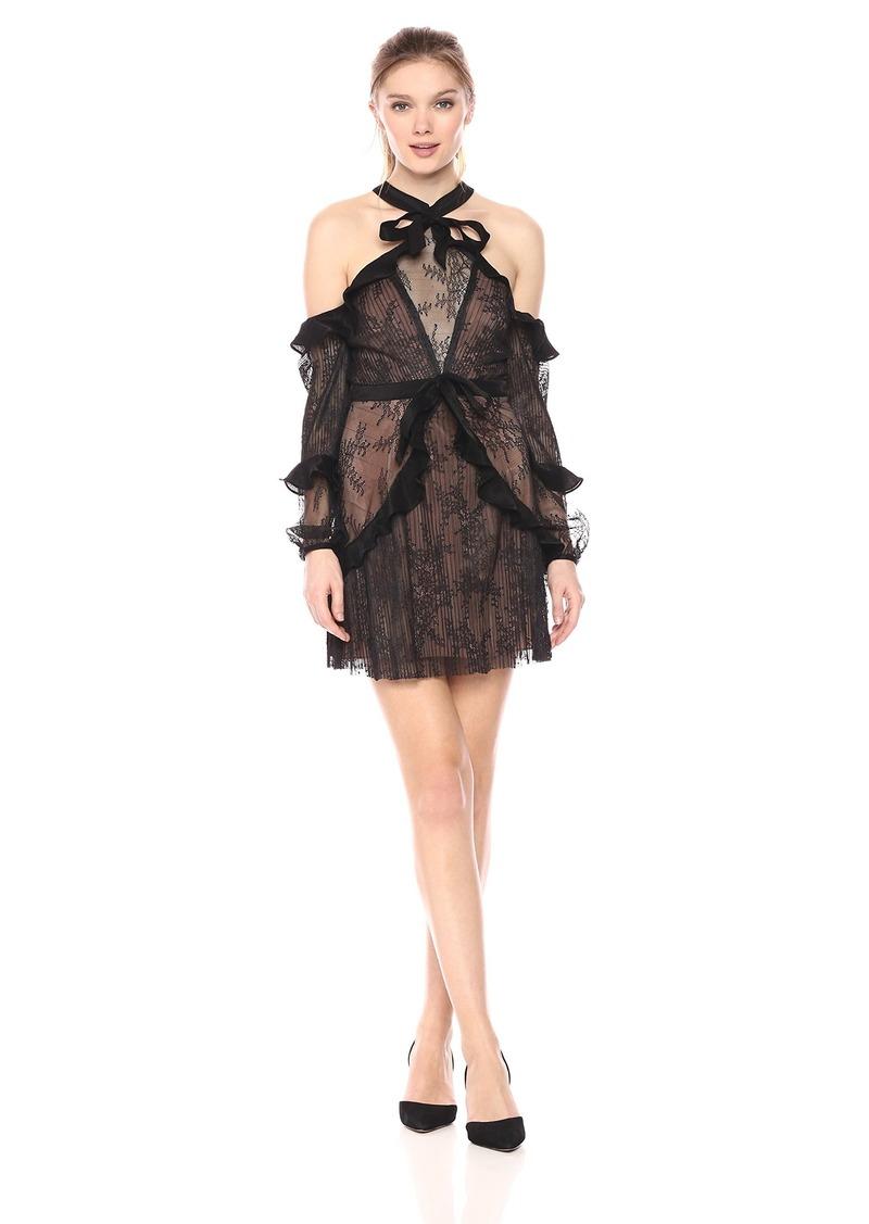 For Love & Lemons Women's Margot Off Shoulder Mini Dress  XS