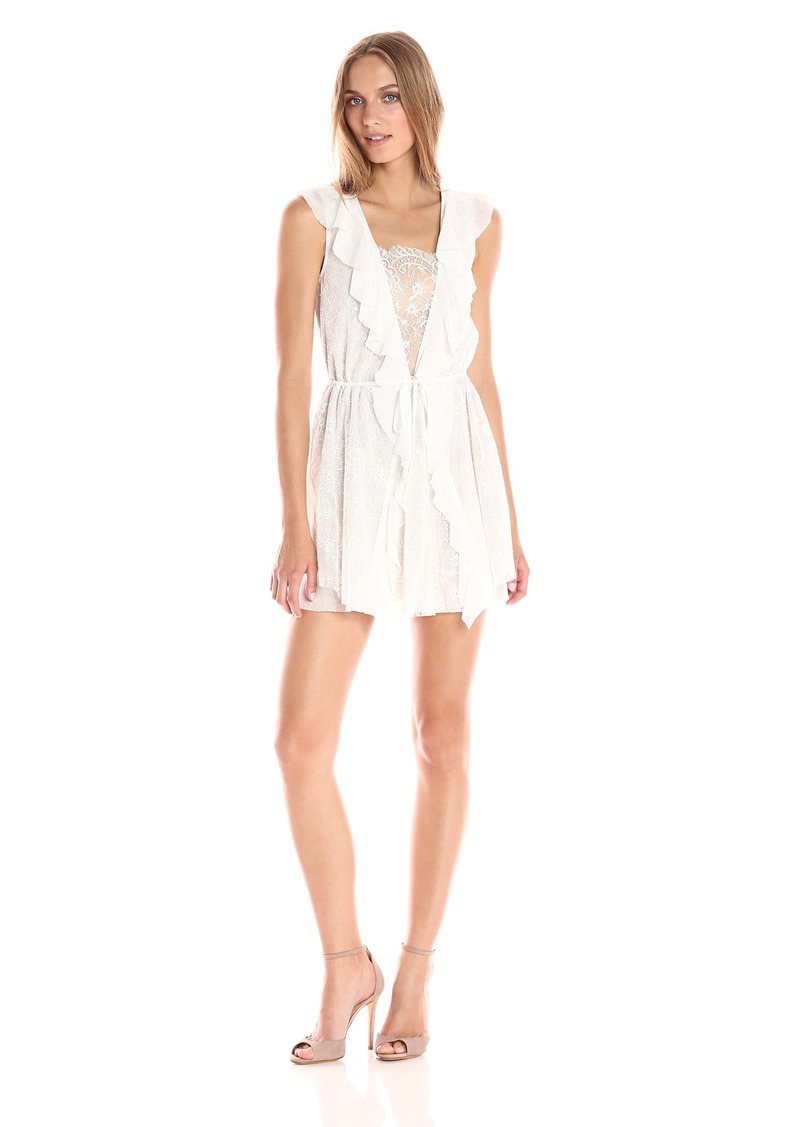 For Love & Lemons Women's Stardust Lace Drawstring Dress  L